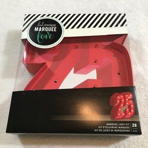 NEW HEIDI SWAPP 25 Marquee light up diy red xmas